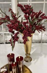 Bilde av Kunstig blomst burgunder, 3 grener