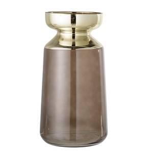 Bilde av Vase, Brunt, Glass med gull