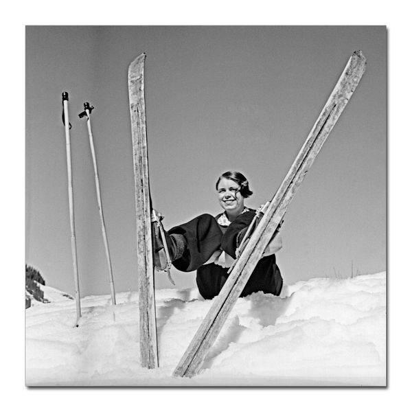 Enjoy the snow (80x80 bilde Plexiglass)