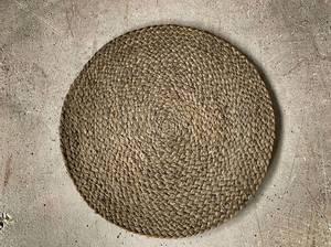 Bilde av Bordbrikke jute rund d 33 cm mosegrønn