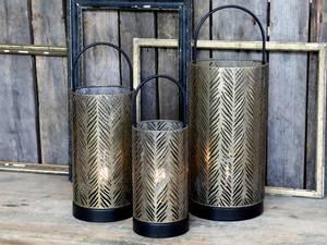 Bilde av Lanterne med mønster inkl.pære og timer
